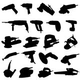 Collection of power tool vector Royalty Free Stock Photo