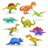 Collection of prehistoric dinosaur habitants. Vector Royalty Free Stock Photos