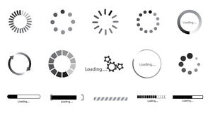 Collection of preloading icons Royalty Free Stock Photos