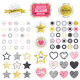 Collection of premium design elements. illustration Royalty Free Stock Photography