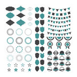 Collection of premium design elements. Set of geometric shapes, Stock Photos