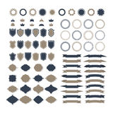 Collection of premium design elements. Set of ribbons, geometric Royalty Free Stock Image