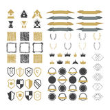 Collection of premium design elements. Set of ribbons, geometric vector illustration