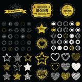 Collection of premium design elements. Vector illustration Stock Images