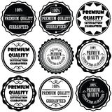 Collection of Premium and High Quality and Guarantee Labels design Royalty Free Stock Images