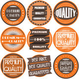 Collection of Premium and High Quality and Guarantee Labels design Royalty Free Stock Photos
