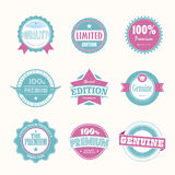 Collection of Premium and High Quality labels. Collection of Premium Quality and Guarantee Labels retro vintage style design. 100% Premium Quality Guarantee Royalty Free Stock Photos