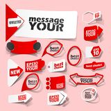 Collection premium and high quality Labels, sign Stock Photography