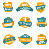 Collection of Premium and High Quality labels Vector illustration. Stock Photography