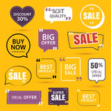 Collection of premium promo sale stickers. Royalty Free Stock Image