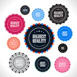 Collection of Premium Quality badges. Collection of vintage style premium quality badges Royalty Free Stock Image