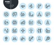 Collection of premium quality business people concept line icons. Outline concepts for web and app design and development. Modern vector illustration of thin Stock Photos