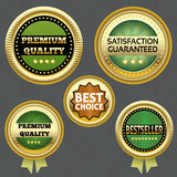 Collection of Premium Quality and Guarantee Labels stock illustration