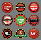 Collection of Premium Quality and Guarantee Labels Royalty Free Stock Image