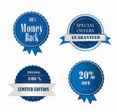 Collection of Premium Quality and Guarantee Labels Royalty Free Stock Images