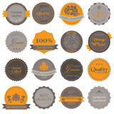 Collection of Premium Quality Labels Stock Photos