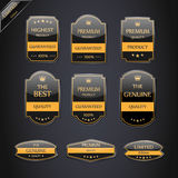 Collection of Premium Quality Labels. Stock Photos
