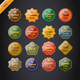 Collection of Premium Quality Labels. Stock Image