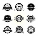 Collection of Premium Quality Labels. stock illustration