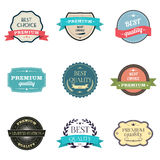 Collection of premium quality Labels. Royalty Free Stock Photography