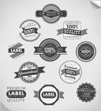 Collection of Premium Quality Labels Royalty Free Stock Image
