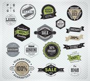 Collection of Premium Quality Labels Stock Photography