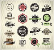 Collection of Premium Quality Labels Royalty Free Stock Images