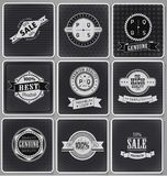 Collection of Premium Quality Labels Stock Image