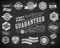 Collection of Premium Quality Labels Royalty Free Stock Photos
