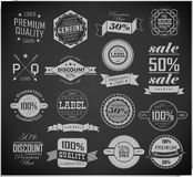 Collection of Premium Quality Labels Royalty Free Stock Photo