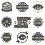 Collection of Premium Quality Labels retro vintage Royalty Free Stock Images