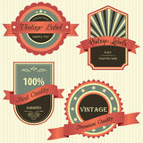 Collection of Premium Quality with retro vintage styled design. Royalty Free Stock Image