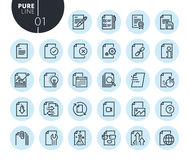 Collection of premium quality text editing and document formatting line icons. Outline concepts for web and app design and development. Modern vector Stock Photography
