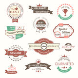 Collection of premium quality vintage labels and badges Stock Images