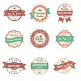 Collection of premium quality vintage labels and badges Royalty Free Stock Photography