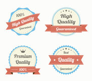 Collection of premium quality vintage labels in color Royalty Free Stock Images