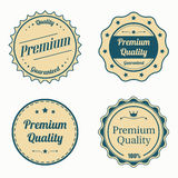 Collection of premium quality vintage labels in color Royalty Free Stock Photo