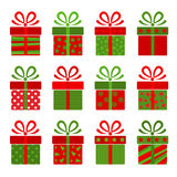 Collection of  present boxes Stock Images