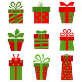 Collection of  present boxes Stock Image