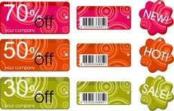 Collection of price labels Royalty Free Stock Photography