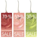Collection of price labels Royalty Free Stock Photos