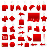 Collection of price lists Stock Photos