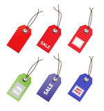 Collection of price tags. Stock Image