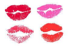 Collection print of lips Royalty Free Stock Images