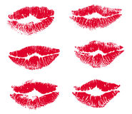 Collection print of lips Stock Photography