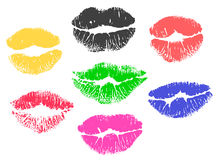 Collection print of lips Stock Images