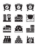 Collection and processing of garbage. Vector illustration Royalty Free Stock Photography