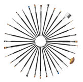 A collection of professional brushes Stock Images