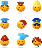 Collection of professionals smilies Royalty Free Stock Photo