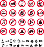 Prohibition signs Royalty Free Stock Photos